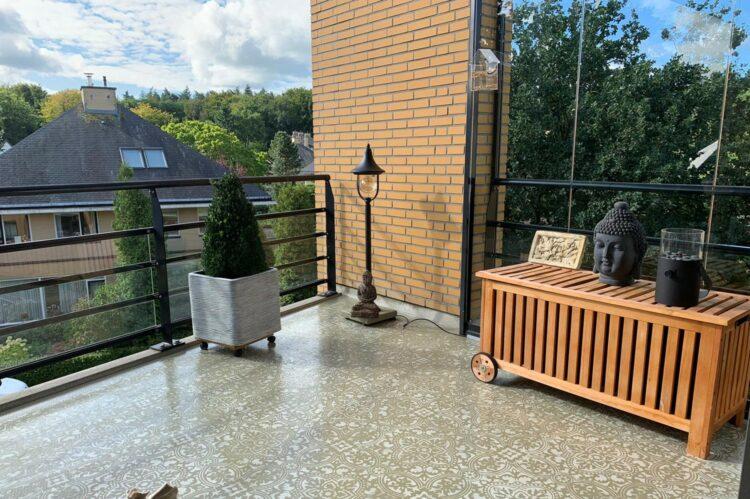 balkonvloer sjablonen schilderen
