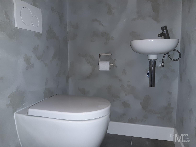 betonlook wc toilet wandafwerking