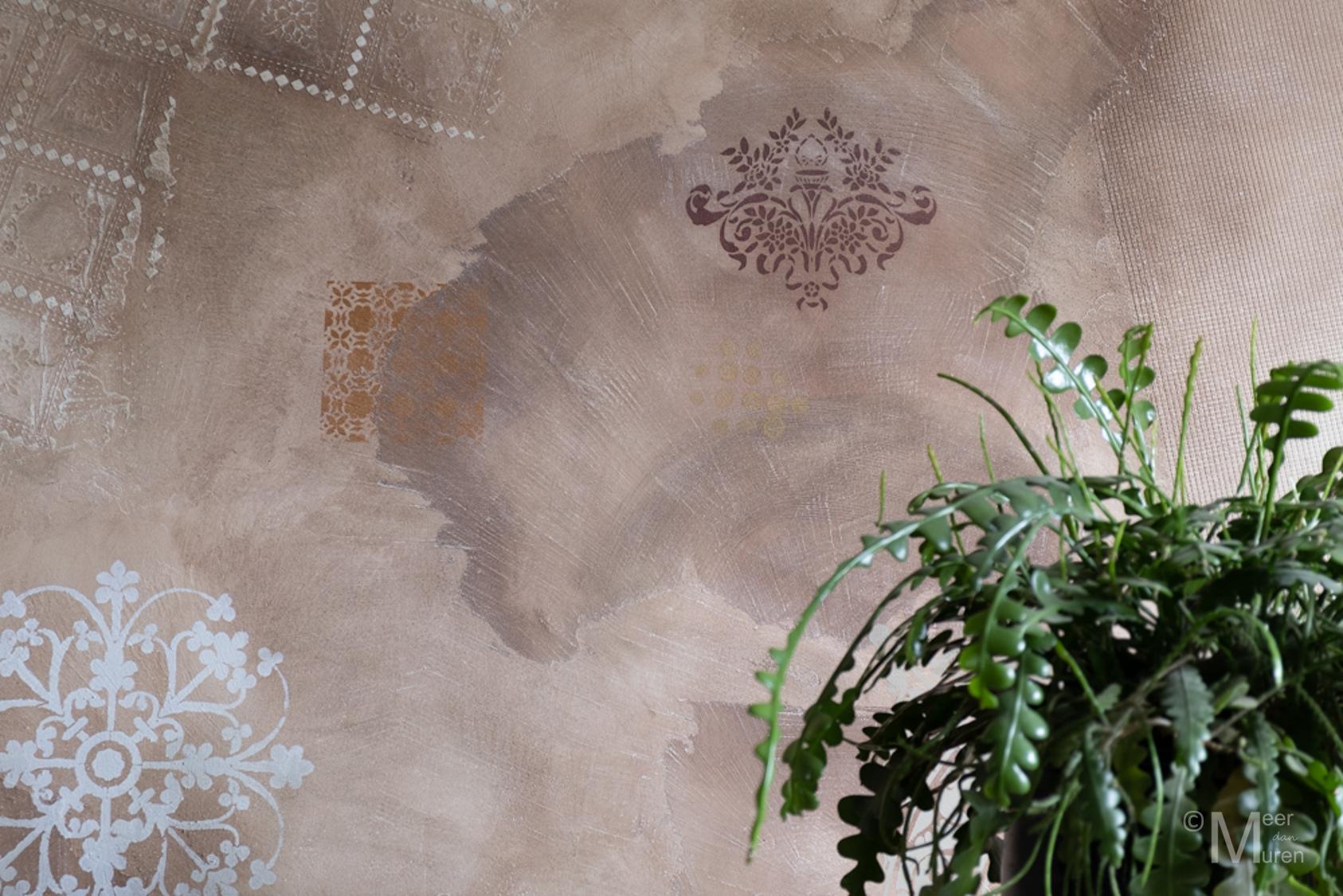 calcecruda sjablonen novacolor 3d-effect persoonlijke muur