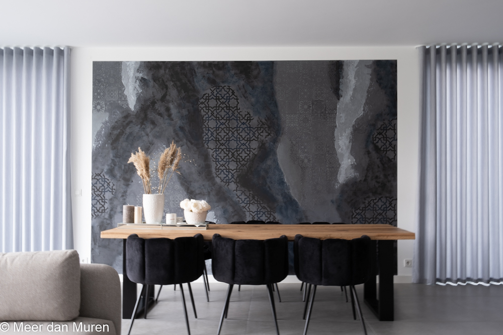 metallic 3D muur